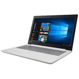 80XV008UJP ノートパソコン Ideapad (アイデアパッド )320 ブリザードホワイト [15.6型 /AMD Aシリーズ /SSD:128GB /メモリ:4GB /2017年7月モデル]