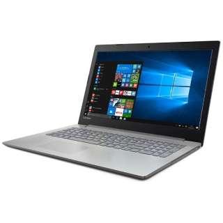 80XH006AJP ノートパソコン Ideapad (アイデアパッド )320 プラチナシルバー [15.6型 /intel Core i3 /HDD:1TB /メモリ:4GB /2017年6月モデル]