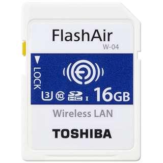 SDHCカード FlashAir  SD-UWAシリーズ<W-04> SD-UWA016G [16GB /Class10]
