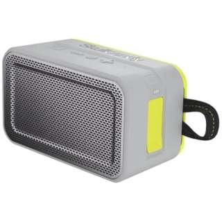 S7PDW-J583-I ブルートゥース スピーカー Barricade XL グレーホットライム [Bluetooth対応 /防水]