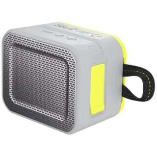 S7PCW-J583 ブルートゥース スピーカー Barricade グレーホットライム [Bluetooth対応 /防水]