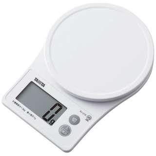 デジタルクッキングスケール (2kg) KJ-216-WH ホワイト