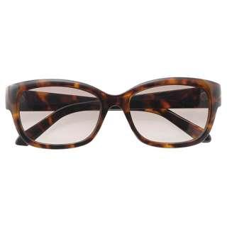 ファッションサングラス(ブラウンデミ/ブラウンハーフ)7833-02