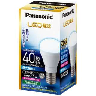 LDA4D-G-E17/K40E/S/W/2 LED電球 小形電球形 ホワイト [E17 /昼光色 /1個 /40W相当 /一般電球形]