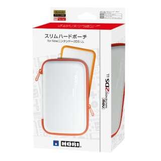 スリムハードポーチ for Newニンテンドー2DS LL ホワイト×オレンジ 2DS-110[New2DS LL]