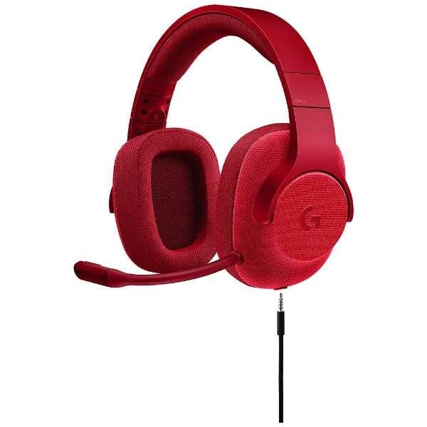 G433RD ゲーミングヘッドセット レッド [φ3.5mmミニプラグ /両耳 /ヘッドバンドタイプ]