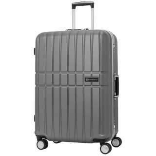 スーツケース エンボス加工フレームキャリー 53L Gray SK-0740-58-GY [TSAロック搭載]