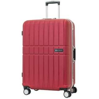 スーツケース エンボス加工フレームキャリー 53L Beige SK-0740-58-BG [TSAロック搭載]