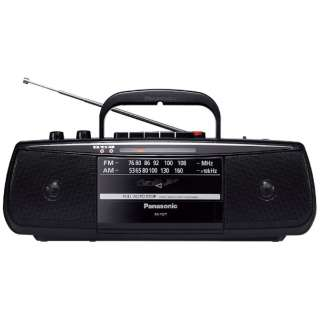 RX-FS27 ラジカセ ブラック [ワイドFM対応]