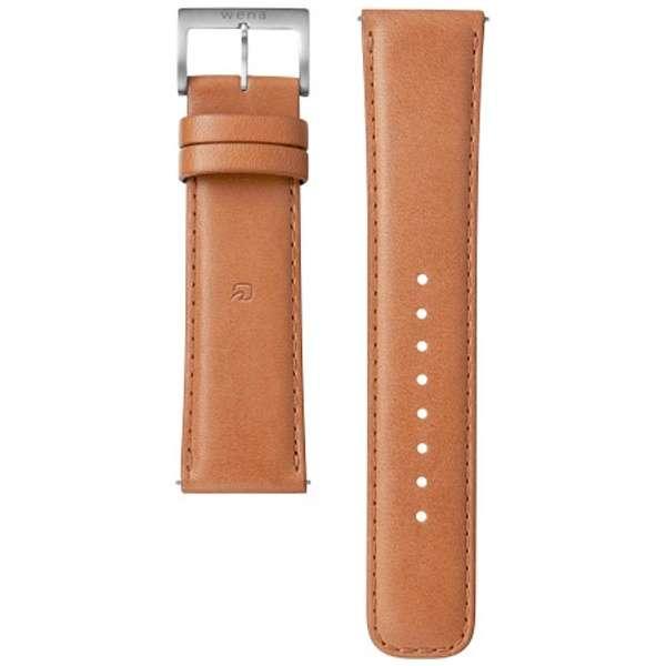 電子マネー機能搭載替えバンド カーフ革 「wena wrist leather」(22-22mm・ブラウン) WC-22E0N-T