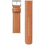 電子マネー機能搭載替えバンド カーフ革 「wena wrist leather」(20-20mm・ブラウン) WC-20E0N-T