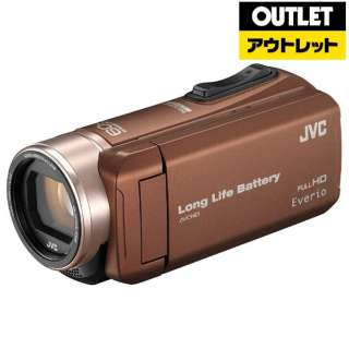 【アウトレット品】 ビデオカメラ Everio(エブリオ) [メモリ 32GB/フルハイビジョン] GZ-F200 ライトブラウン 【生産完了品】