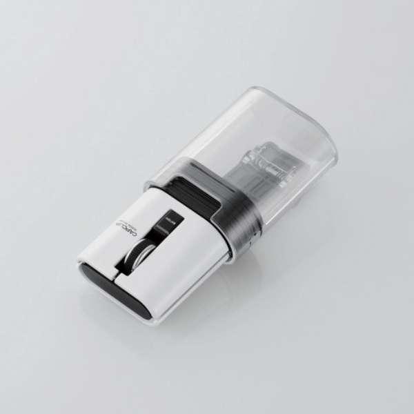 M-CC2BRSWH マウス CAPCLIP ホワイト [光学式 /3ボタン /Bluetooth /無線(ワイヤレス)]