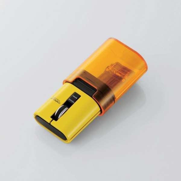 M-CC2BRSYL マウス CAPCLIP イエロー [光学式 /3ボタン /Bluetooth /無線(ワイヤレス)]