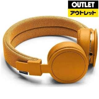 【アウトレット品】 ヘッドホン [リモコン・マイク対応 /φ3.5mm ミニプラグ] PLATTANADV オレンジ 【外装不良品】