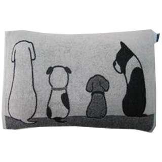 【まくらカバー】のびのび枕カバーMONOTONE Dog