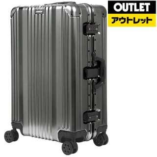 【アウトレット品】 アルミ製フレームタイプスーツケース 88L ガンメタ 1510-70-GM 【外装不良品】