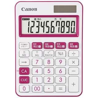 抗菌電卓 ミニ卓上 Pink LS-105WUC-PK [W税率対応 /10桁]