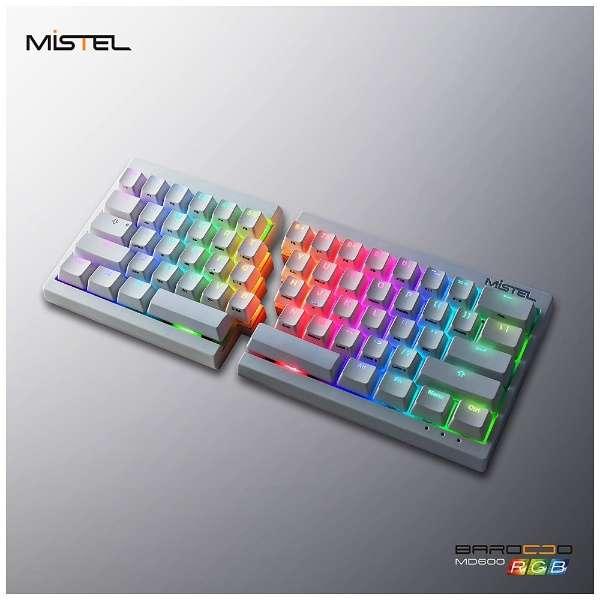 MD600-BUSPDWWT1 ゲーミングキーボード Cherry MX 茶軸 Barocco ホワイト [USB /有線]