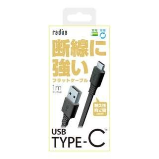 [Type-C]ケーブル 充電・転送 1m ブラック RK-CAB11K [1.0m]