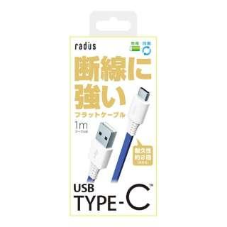 [Type-C]ケーブル 充電・転送 1m ブルー RK-CAB11B [1.0m]
