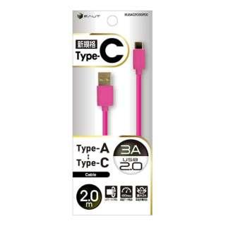 [Type-C] ケーブル USB2.0 3A 2m PK BUSAC2030200PK [2.0m]