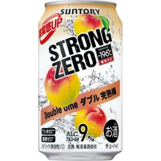 -196℃ ストロングゼロ ダブル完熟梅 (350ml/24本)【缶チューハイ】