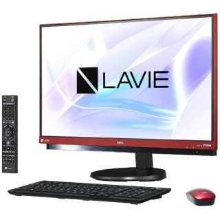 PC-DA770HAR デスクトップパソコン LAVIE Desk ラズベリーレッド [23.8型 /HDD:3TB /メモリ:8GB /2017年夏]