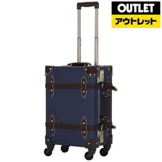【アウトレット品】 スーツケース 36L ネイビー/ブラウン EUR3054-53 【生産完了品】