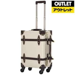【アウトレット品】 スーツケース 36L アイボリー/ブラウン EUR3054-53 【生産完了品】