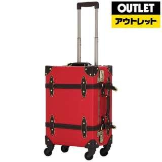 【アウトレット品】 スーツケース 36L レッド/ブラウン EUR3054-53 【生産完了品】
