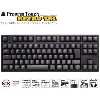 有線キーボード[USB&PS/2・Win]ProgresTouch RETRO TKL(日本語・静音赤91キー) AS-KBPD91/SRBKN