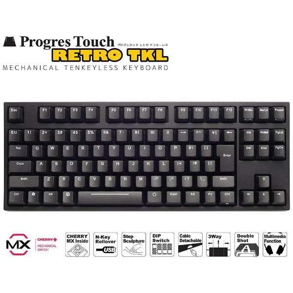 AS-KBPD91/SRBKN キーボード CHERRY MX 静音赤軸 ARCHISS ProgresTouch RETRO TKL 黒 [有線]