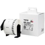 ラベルライター用長尺紙テープ 黒赤文字 DK TAPE 白 DK-2251 [62mm幅]