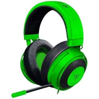 RZ04-02050600-R3M1 ゲーミングヘッドセット Kraken グリーン [φ3.5mmミニプラグ /両耳 /ヘッドバンドタイプ]