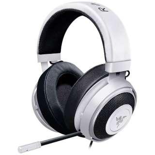 RZ04-02050500-R3M1 ゲーミングヘッドセット Kraken ホワイト [φ3.5mmミニプラグ /両耳 /ヘッドバンドタイプ]