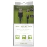 [micro USB]脱着式 充電USBケーブル (1m・ブラック)MT100M-B [1.0m]