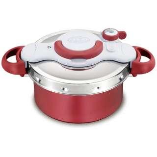 ≪IH対応≫ 圧力鍋 「クリプソ ミニット デュオ」(4.2L) P4604236 レッド