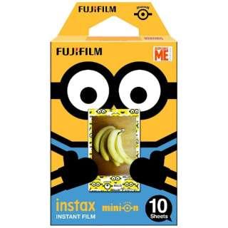チェキ インスタントカラーフィルム instax mini 絵柄入りフレーム 「ミニオン・通常版」 1パック(10枚入)