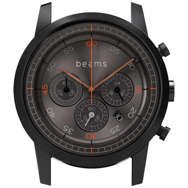 ハイブリッドスマートウォッチ wena wrist Chronograph Premium Black BD beams edition WN-WC03B-H