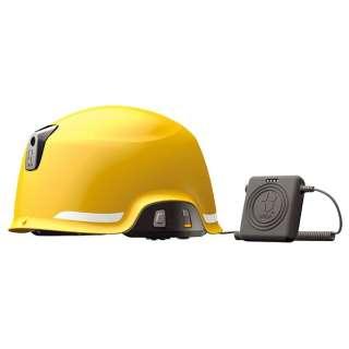ヘルメット型防災用無線機ビーコン付/無線機搭載/FMラジオ受信機能  SAGA-D-B