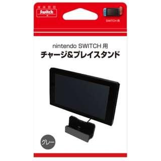 Switch用チャージ&プレイスタンド グレー BKS-NSJSGY[Switch]