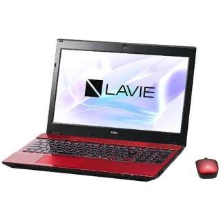 PC-NS750HAR ノートパソコン LAVIE Note Standard クリスタルレッド [15.6型 /intel Core i7 /HDD:1TB /メモリ:8GB /2017年7月モデル]