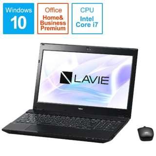 LAVIE Note Standard ノートパソコン クリスタルブラック PC-NS750HAB [15.6型 /intel Core i7 /HDD:1TB /メモリ:8GB /2017年7月モデル]