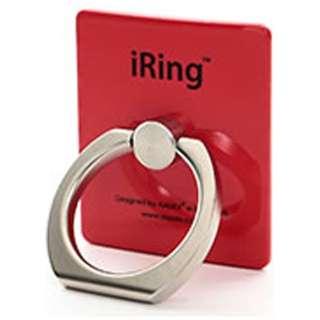 〔スマホリング〕 iRing アイリング レッド UMS-IRLEG01RD