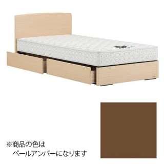【フレーム&マットレス】フランスベッド 収納付き PSF-302[スノコ床板](シングルサイズ/ペールアンバー) + ZT-010セット【日本製】