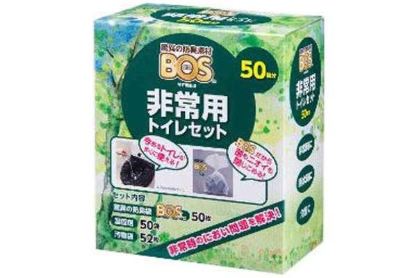 クリロン化成「BOS 非常用トイレセット50回分」
