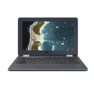 C213NA-N3350 ノートパソコン Chromebook Flip ダークグレー [11.6型 /intel Celeron /eMMC:32GB /メモリ:4GB /2017年8月モデル]