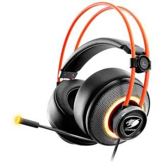 CGR-U50MB-700 有線ゲーミングヘッドセット IMMERSA PRO [φ3.5mmミニプラグ+USB /両耳 /ヘッドバンドタイプ]