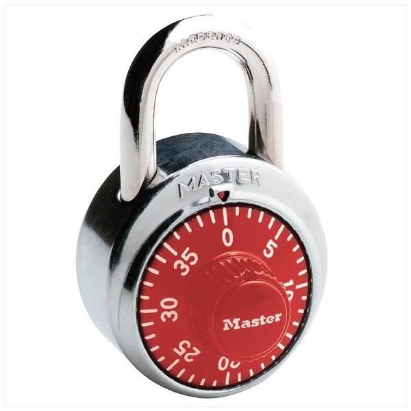 マスターロックセントリー マスターロック 1504JADダイヤル式南京錠レッド 00850002-001